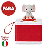 FABA-Raccontastorie bianco – Cassa audio con Personaggio Sonoro ELE l'Elefante, FBC10001, Colore, Accessori
