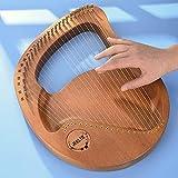TTLIFE Arpa De Caoba, Instrumento Musical De Arpa De Mano De Lira De Estilo Antiguo Cuerda Con 24 Cuerdas De Repuesto y Bolsa De Rendimiento, Para Principiantes Amantes De La Música Niños Adultos