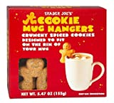 Trader Joe s Gingerbread Man Cookie Mug Hangers - Crunchy Spiced Cookies designed to fit on the rim of your mug!