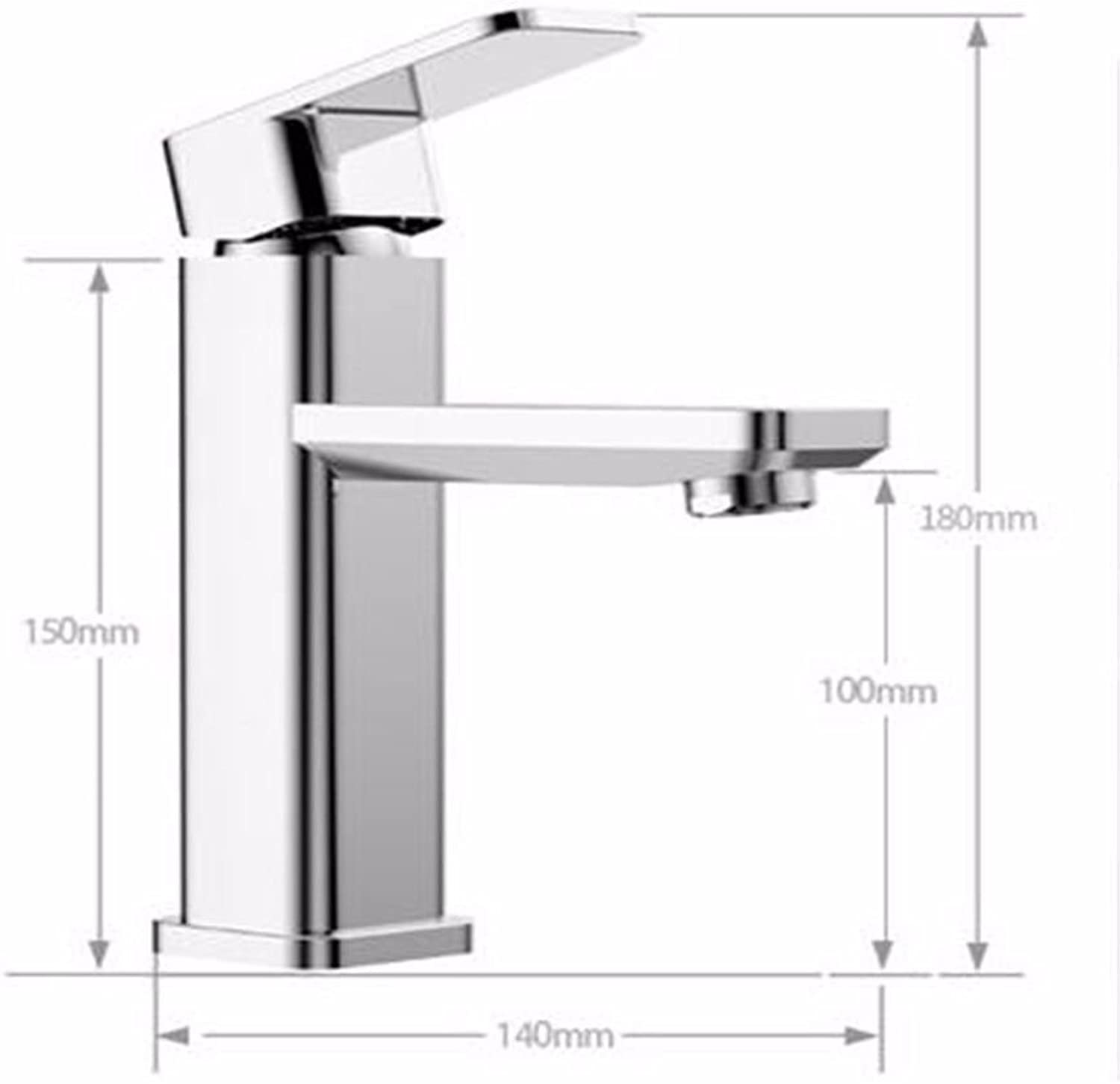 SADASD Contemporary Bathroom Full Copper Basin Faucet Sit-In-Basin Sink Mixer Tap Ceramic Spool Single Hole Single Handle Cold Water With G1 2 Hose