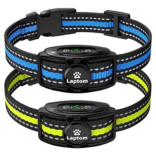 2 Pack Smart Dog Bark Collar - 5 Adjustable Sensitivity/Vibration&Sound/Rechargeable/IPX7 Waterproof - Bark Control Training Collar for Small Medium Large Dog