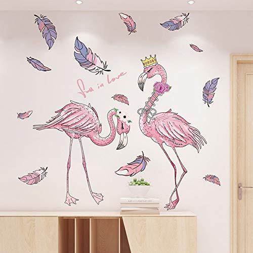 Muurstickers zelfklevend meisje kamer lay-out creatieve Flamingo kroon slinger als een adem frisse lucht decoratie