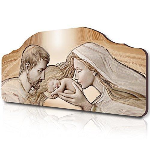 Lupia Quadro capezzale Sacro 50x100 cm Holy Kiss Brown su tavola Lavorata