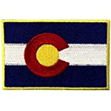 Colorado State Flag CO Emblem Embroidered Iron On Sew On Patch