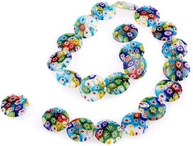 TOOGOO(R) Hilo Cuenta Abalorio Cristal de Murano Flor multicolor