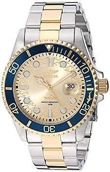 Invicta Men s Pro Diver 43mm Stainless Steel Quartz Watch Two Tone/Blue  Model  30022
