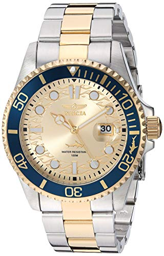 Invicta Men's Pro Diver Quartz Watch with Stainless Steel Strap, Two Tone, 22 (Model: 30022)
