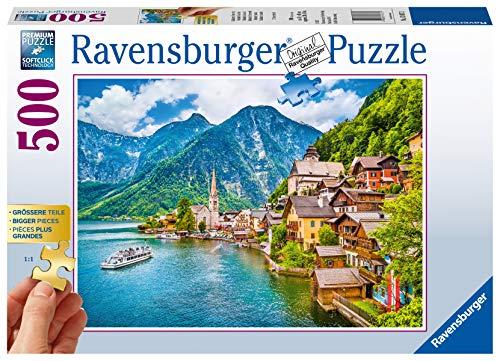 Ravensburger Puzzle 13687 - Hallstatt in Österreich - 500 Teile Puzzle für Erwachsene und Kinder ab 10 Jahren, Puzzle mit größeren Teilen