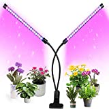 Luces LED para crecimiento de plantas de interior de, cuello de cisne ajustable, espectro completo, luz para crecimiento de plantas, con temporizador para interiores, estancias y oficinas