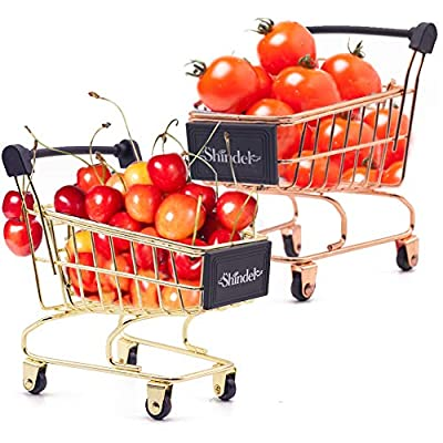 Mini Brands Shopping Cart, 2PCS Shopping Day Grocery Cart Mini Supermarket Handcart Toy Shopping Carts from Shindel