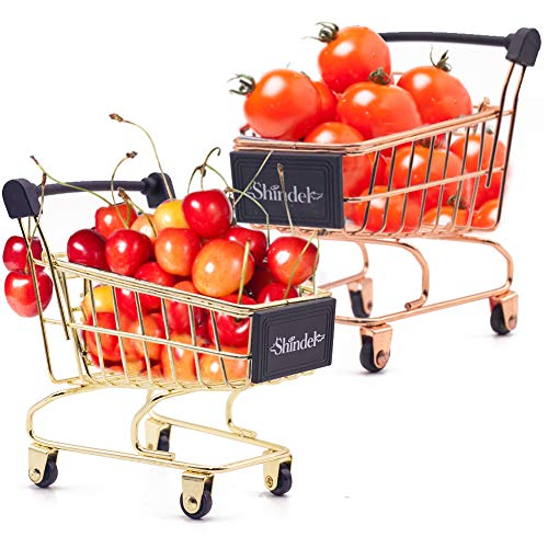 Mini Brands Shopping Cart, 2PCS Shopping Day Grocery Cart Mini Supermarket Handcart Toy Shopping Carts