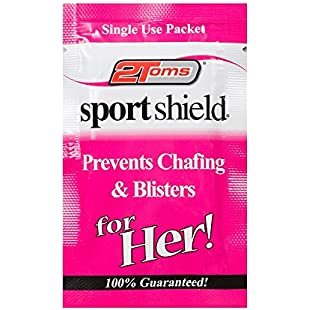 2Toms Women's Sport Shield for Individual Shielding Wipes (Pack of 48) - White