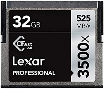 2-Pack Lexar 32GB Professional 3500x CFast 2.0 Memory Card