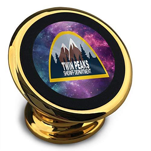 Ering6o Twin Peaks Sheriff Departamento Soporte magnético para teléfono de coche con rotación de 360°, anillo de metal apto para múltiples modelos