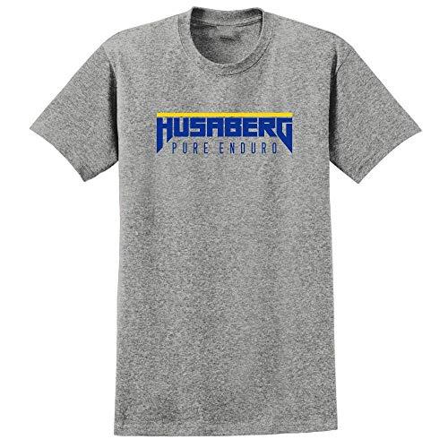 Husaberg Pure Enduro T-Shirt Men's Fashion Short Sleeves Cotton Tops Clothing