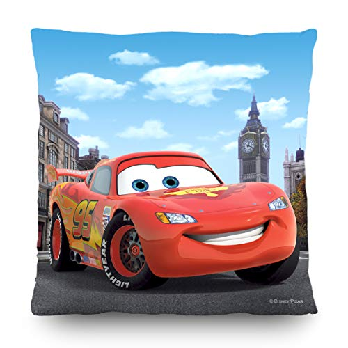AG Design - Cuscino decorativo Disney con copertina - Disney Cars - 40 x 40 cm, 1 pezzo - CND 3112