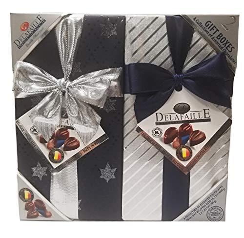 Delafaille Premium Belgian Kosher/Vegan Assorted Chocolates Gift Boxes - 2 Pack (14.1 oz.)