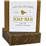 Pine Tar Bar Soap - Natural Face Soap, Body Soap. Handmade in USA with Organic Ingredients & Essential Oils.