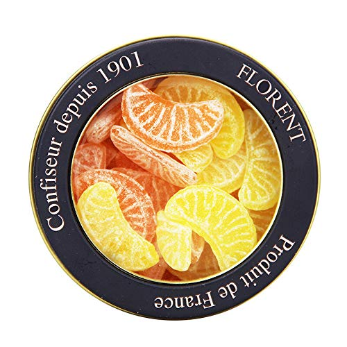 Florent 12 Horoscope Fruit Hard Candy Assorted Fruits Flavors in 7.1oz Tin (Libra Orange Lemon Slices Flavor)