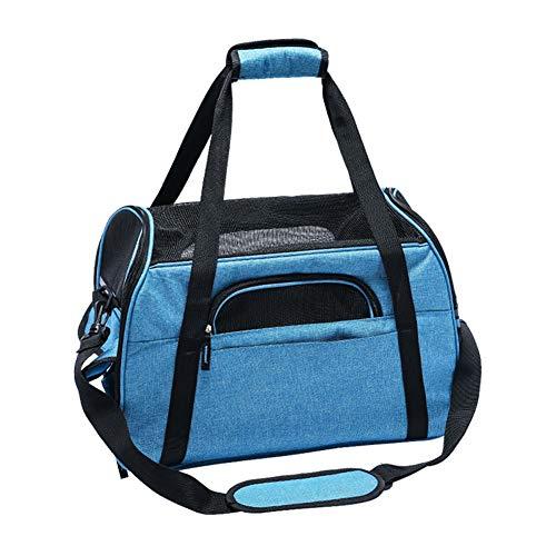 Aida Bz Pet Out Bag Sac de Chat Slung Pet Out Portable Sac de Voyage Chat Portable Sac d'hiver Anti-Rayures Fournitures pour Animaux de Compagnie,Blue,S