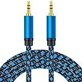 Aux Kabel 0.3M, nufedcpo Audio Kabel 3,5 mm Klinkenkabel mit Nylon kompatibel mit Auto, Handy, Kopfhörer, Laptop, Lautsprecher, Stereoanlage, TV, usw.