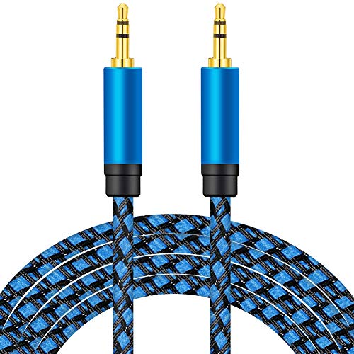 Audio Cable 10M, nufedcpo Aux Cable, 3.5mm Audio Cable Male to Male Stereo Lead Braided Auxiliary Cord Compatible with Earphone Car Speaker TV PC Laptop Tablet iPod Samsung Sony Phone Amp Soundbar