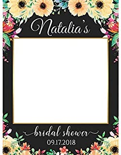 Bridal Shower Photo Prop, Flowers Photo Booth Frame, Wedding Photo Prop, Size 24x36, 48x36, Photo Booth Frame, Bridal Shower Party Frame, Handmade DIY Party Supply Photo Booth Props