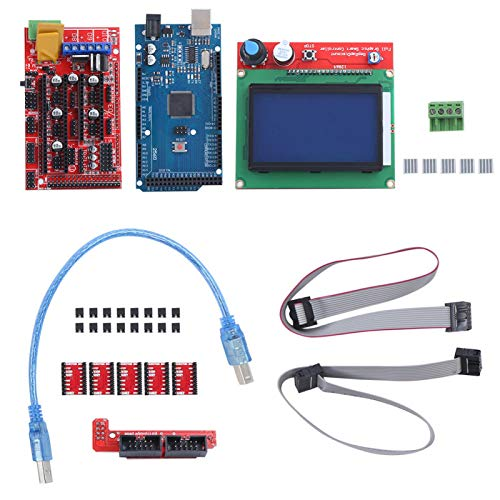 Kit de impresora 3D con placa Mega 2560 para Arduino Reprap RAMPS 1.4 Controlador 12864 LCD A4988 Controlador