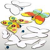 Baker Ross AT882 Alianti da Colorare Farfalla Fai da Te, per progetti di artigianato artistico per bambini (confezione da 10), assortiti
