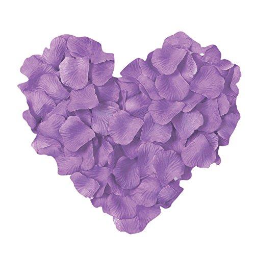 Neo LOONS 1000 Pcs Artificial Silk Rose Petals Decoration Wedding Party Color Light Lavender