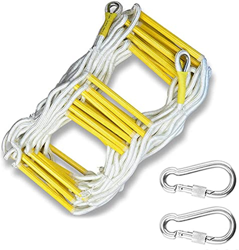 FAFAFA Emergency Fire Escape Rope Ladder for 3-4 Story Homes Safety Ladders...