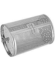 Fenteer Rotisserie Grill Drum Oven Mand Oven Roosteren Terug Roterende Zilver voor Pinda Gedroogde Noten Koffiebonen Bbq