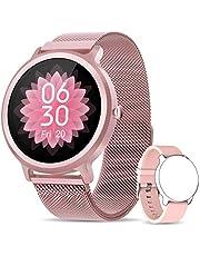 NAIXUES Smartwatch Donna, Orologio Fitness IP68 con 24 Modalità Sportive, Smart Watch Impermeabile Contapassi Cardiofrequenzimetro da Polso Activity Tracker per iOS Android Rosa