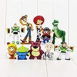 Modelo De Anime10 Unids/Lote Toy Story Figura Toy Buzz Lightyear Woody Jessie Rex Mr Potato Head Lotso Little Alien Mini Toys 4-9Cm