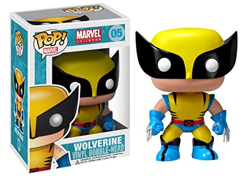 Funko FUN2277 Marvel Universe POP Heroes X-Men Wolverine 4-Inch Vinyl Bobble-Head Figure
