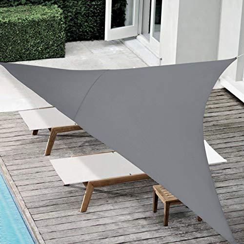 MaxxGarden - Toldo parasol para jardín, balcón y terraza, resistente a la intemperie, HDPE, 5 x 5 x 5 m, color gris