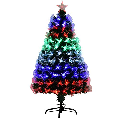 Boldly Colored Christmas Tree With Star Topper