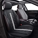 AOOG Leather Car Seat Covers, Universal Non-Slip Vehicle Cushion Cover for Cars SUV Pick-up Truck, Leatherette Automotive Vehicle Cushion Cover Waterproof Protectors Interior Accessories,Driver's Seat