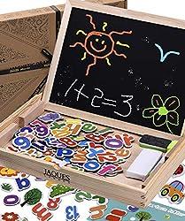 Jaques Von London Kinder Magnettafel Magnet Buchstaben und Zahlen - vervollständigen mit Kinder für magnettafel Holz Magnet – perfekt lernspiele ab 2 3 4 5 Jahre Magnete