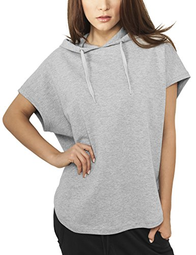 Urban Classics Damen Sweatshirt Ladies Sleeveless Terry Hoody grau (Grau) Medium