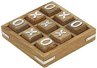 ShalinIndia Handmade Wooden Tic Tac Toe Game for Kids 7 and Up - Great Gifts for Kids for All Occasions