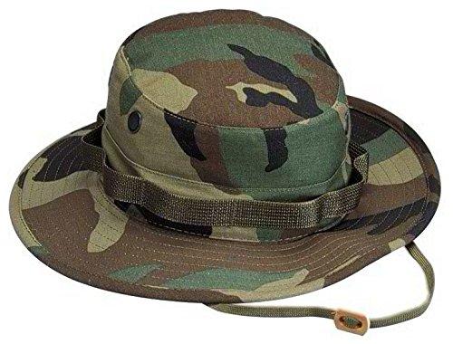 (ロスコ)Rothco 米軍 ブーニーハット Boonie Hat ウッドランドカモフラージュ M