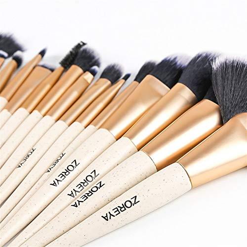 16pcs doux fibres synthétiques pinceaux de maquillage cheveux, lèvres et cils en poudre de mélange Pinceau Beige for les débutants et Maquilleurs (Couleur : Only brushes)