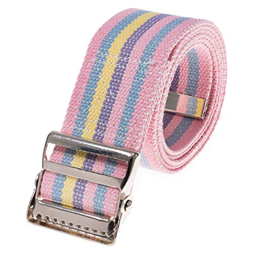 COW&COW Gait Belt 72inch - with Metal Buckle - Transfer Walking and Standing Assist Aid for Caregiver Nurse Therapist 2 inches(Rainbow)