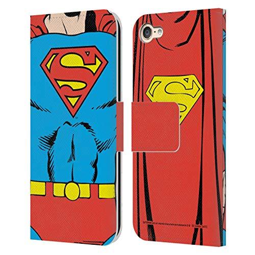 Head Case Designs Licenciado Oficialmente Superman DC Comics Disfraz clsico Logotipos Carcasa de Cuero Tipo Libro Compatible con Apple Touch 6th Gen/Touch 7th Gen