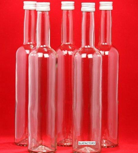 slkfactory 10 x 500 ml Bottiglie di Vetro vuote con Chiusura davuoto Bordo di Succo Bottiglia con Tappo a Vite per riempire con 0,5 Litri l da liquore aceto