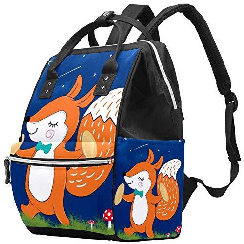 Trumpeter Squirrel Travel Rucksack Casual Daypack Maternity Nappy Bag Organizer Nursing Bottle Bag