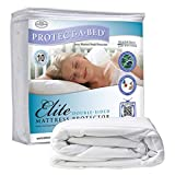 Elite Cotton Double-Sided Waterproof Fitted Sheet Style Mattress Protector Size: Full