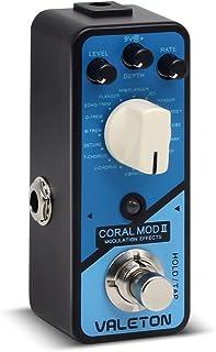 Valeton Coral Mod II Digital Modulation Chorus Flanger Phaser Univibe Tremolo Lofi Multi Effects Guitar Bass Pedal