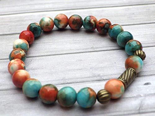 Bracelet tibétain pour femme style vintage en perles de...